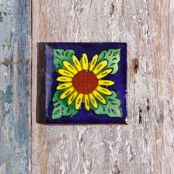 caoba tile small sunflower
