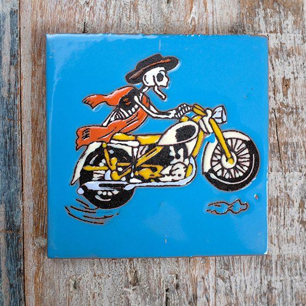 caoba relief biker blue