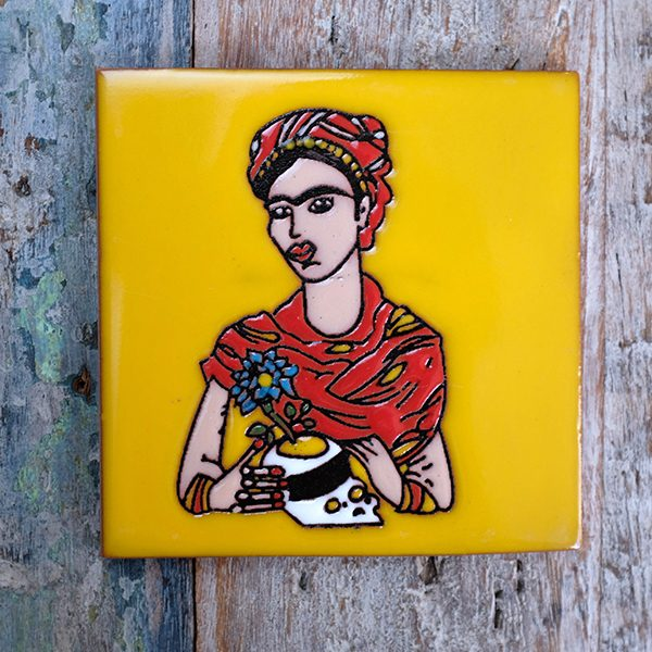caoba relief frida yellow