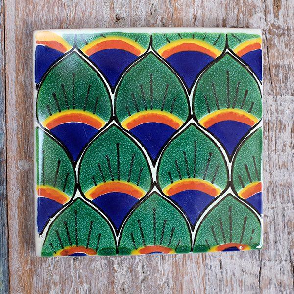 caoba tile peacock new