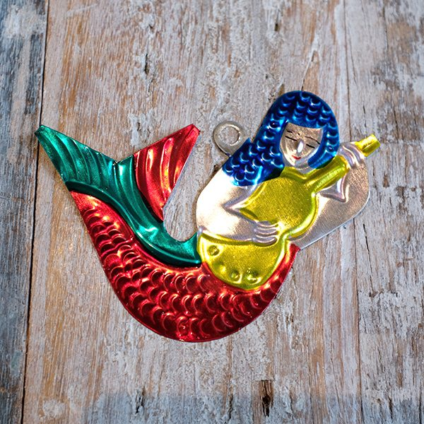caoba tin mermaid red