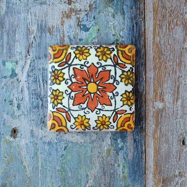 caoba flor des small tile